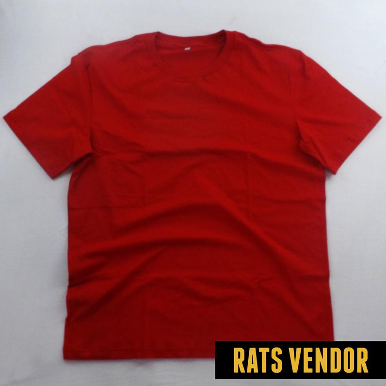 Kaos Polos Merah Tomato Konveksi Bogor Rats Vendor