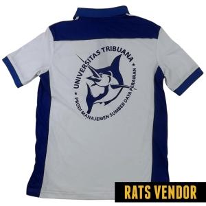 Polo-Shirt-Kombinasi-Biru-Putih-Pakai-Sablon