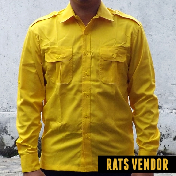 Kemeja-outdoor-lapangan-lengan-panjang--warna-kuning-a
