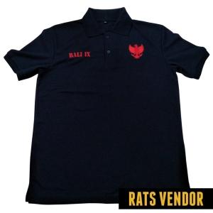 Polo-Shirt-Biru-Navy-Bordir-Garuda-Tampak-Depan