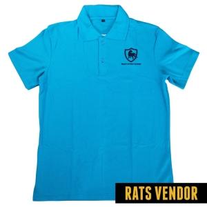 Polo-Shirt-Seragam-Kerja-Ranger-Taman-Budaya-Warna-Biru-Langit-Badan-Depan
