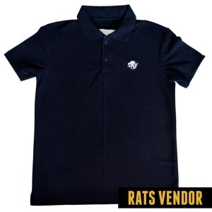 Polo-Shirt-Seragam-Kerja-SKY-Warna-Biru-Navy-Badan-Depan