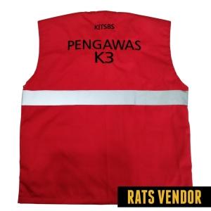 Rompi-Pengawas-K3-PLN-Merah-Tampak-Belakang