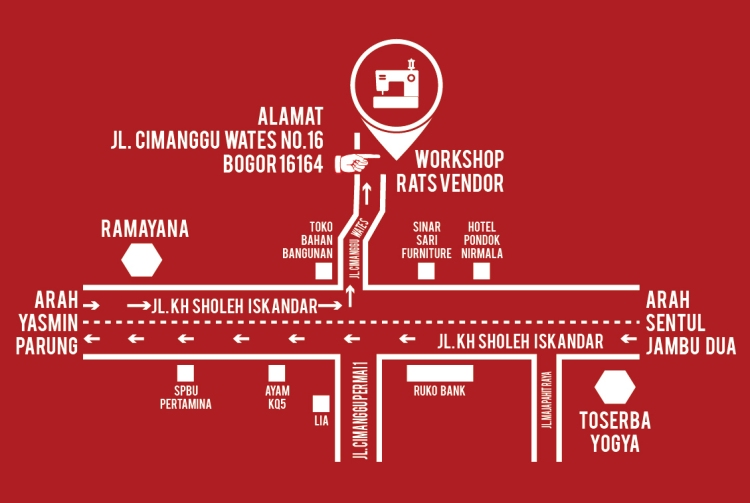 Map Lokasi Rats Vendor
