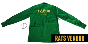Kemeja-PDL-Panjang-Rats-Vendor-Warna-Hijau-Pakai-Bordir-Tampak-Belakang-Maret-2020