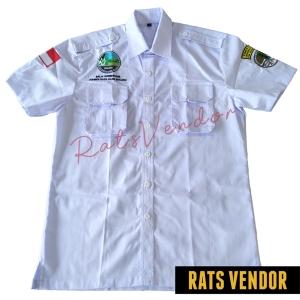 Kemeja-PDL-Pendek-Rats-Vendor-Warna-Putih-Pakai-Bordir-Tampak-Depan-Maret-2020