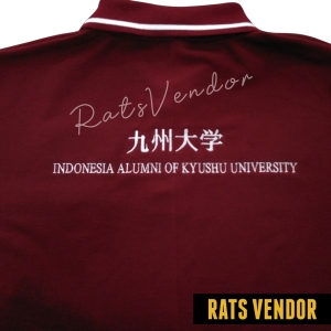 Polo-Shirt-Rats-Vendor-Warna-Maroon-Pakai-Bordir-Tampak-Zoom-April-2020